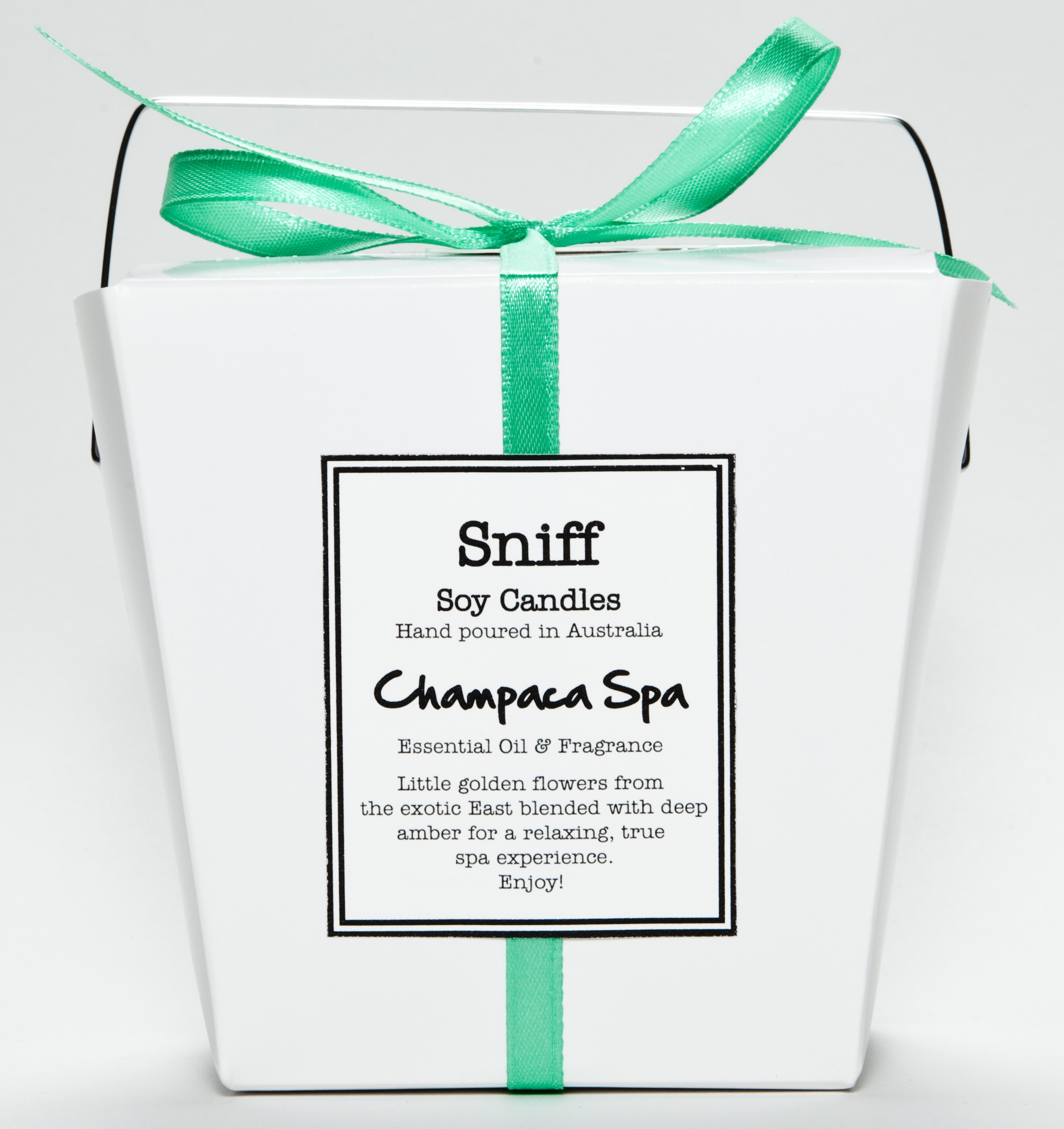 Wholesale Sniff Soy Candles candles. Champaca Spa. Wholesale soy candles. Australian made.
