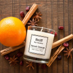 scented candle, spiced orange candle, sniff soy candles