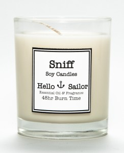 Hello Sailor candle