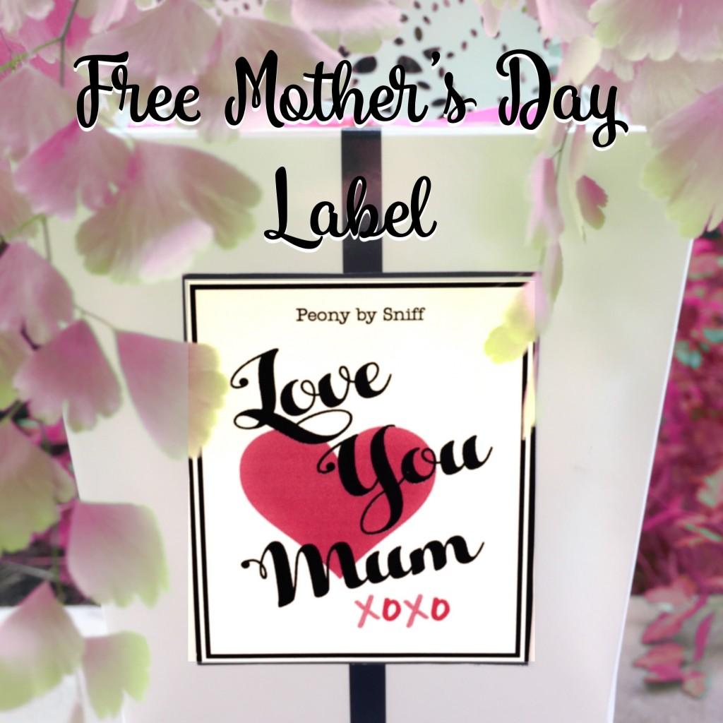 Free Mums Day Label