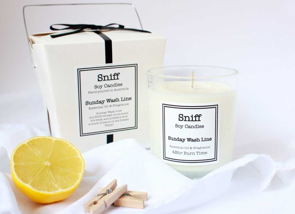 Sunday Wash Line Scented Candle by Sniff
