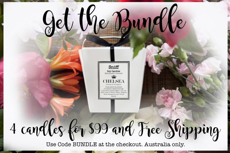 scented candle bundle 4 for $99