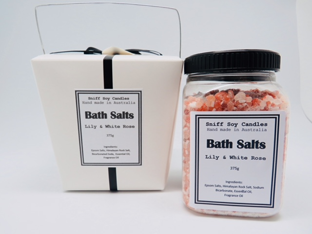 Bath salts lily and white rose